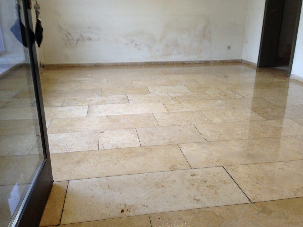 FLOORTEC | Jura-Marmor Nachher Reinigen Schleifen Beschichten Imprägnieren Spachteln schützen pflegen kristallisieren