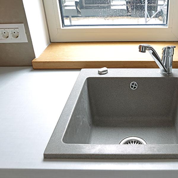 FLOORTEC | Quarz-Komposit Waschbecken