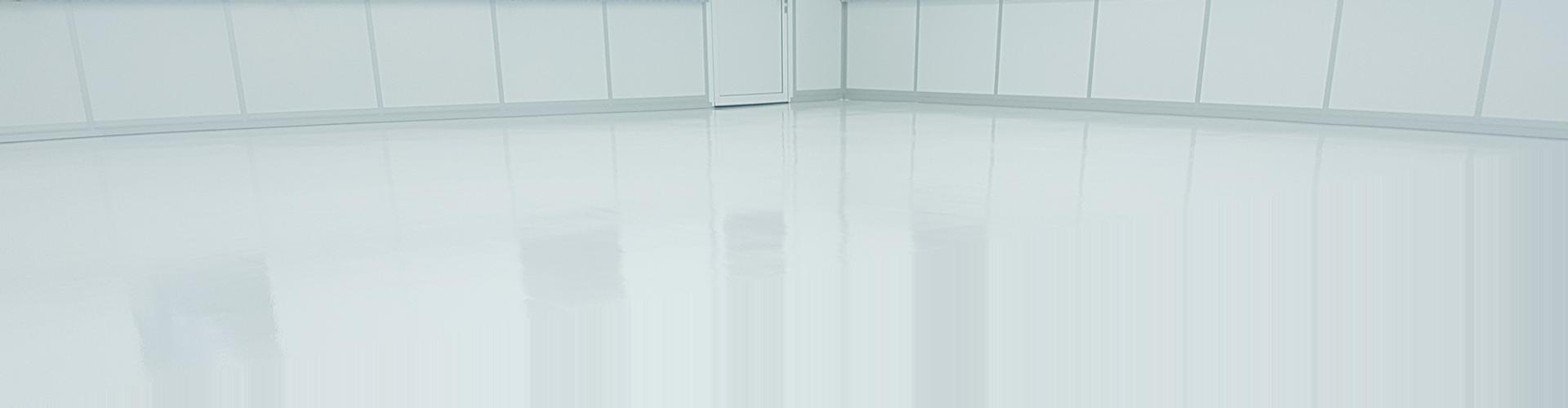 FLOORTEC | Epoxy weiß Reinraum difussionsoffen