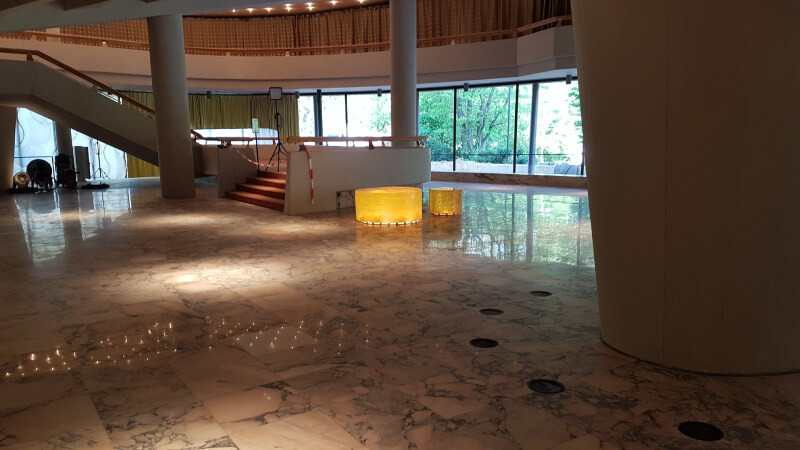 Estremoz rose Marmor Rosa Portogallo kristalliner schleifen spachteln polieren imprägnieren kristallisieren Düsseldorf Planschliff Marmorsanierung Marmorboden