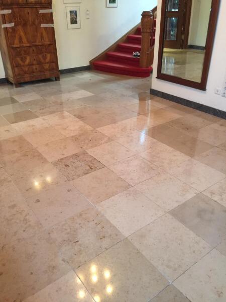 Revitalisierung Leichtschleifen Jura-Marmor schleifen kristallisieren Fugensanierung polieren imprägnieren schützen pflegen Kalkstein